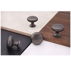 10 antique black silver finish decorative knobs